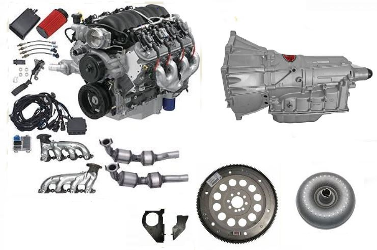 Engine And Transmission >> Chevrolet Performance E Rod Ls3 6 2l 430hp Engine